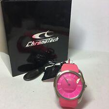Orologio solo tempo Donna Chronotech Ct.7170l/43p Cassa acciaio Silicone Fucsia