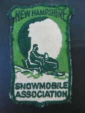 Rare...Vintage NH New Hampshire Old Man on the Mountain Snowmobile Patch