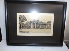 Limited Edition Mount Vernon print George Washington's Home Hand Signed Meslay