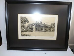 Limited Edition Mount Vernon print George Washington's Home Hand Signed Meslay