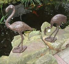 Cast Iron Flamingo Garden Statues - Set of 2
