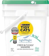 Tidy Cat LightWeight Low Dust Clumping Litter Unscented Pail Activated Charcoal