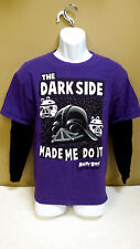 """Star Wars Angry Birds """"The Dark Side Made Me Do It"""" T-Shirt Adult M, Long Sleeve"""