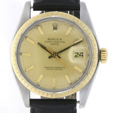 1979er ROLEX OYSTER PERPETUAL DATE SWISS MADE AUTOMATIK REF 1505 STAHL/GOLD +BOX