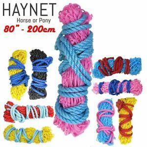 Feeder Trickle Slow Feed Haynet Haylage Small Mesh Holes Hay Net 80'' - Set Buy