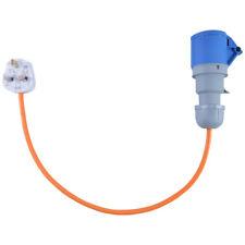 13 AMP to 16 AMP Caravan Electric Hook Up Converter Adaptor Cable 240V Orange