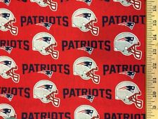 "NFL New England Patriots Red 6467D 100% Cotton 60"" Fabric by the yard"