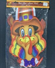 Thanksgiving Giant Paper Die Cut Jointed Cutout TURKEY 36 inches