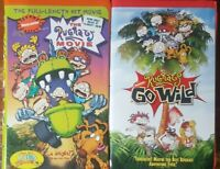 Rugrats~VHS Movie Lot of 2~ 1998/2003~Clamshell Covers~ The Movie and Go Wild