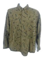 VTG High Sierra Long Sleeve Button Up Cotton Shirt Pheasant Acorn Men's Large