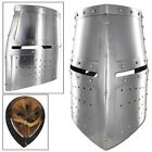 Middle Ages Great Helm Crusader Knights Templar Battle Helmet Armor Face Shield
