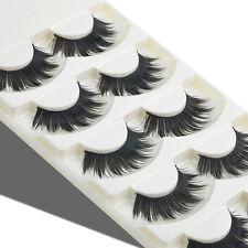 5 Pairs Soft Long Thick Cross Natural False Eyelashes Handmade Fake Eye Lashes
