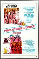 REVENGE OF THE PINK PANTHER/ PP STRIKES AGAIN -Combo movie poster PETER SELLERS