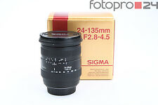 Canon Sigma 24-135 mm 2.8-4.5 d + muy bien (215499)