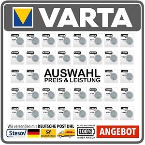 VARTA Watch V301 - V399 Silberoxid Knopfzellen Uhrenbatterien Fachhandelsware