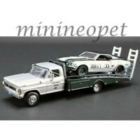 ACME GREENLIGHT 51271 FORD F-350 RAMP TRUCK & 1969 T/A MUSTANG #33 1/64 A.MOFFAT