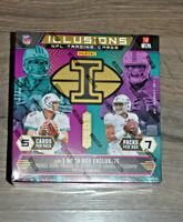 2020 Panini Illusions Football Mega Box Brand New Sealed NFL Herbert ? Burrow ?