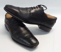 Mens ECCO Black Leather Oxfords Apron Toe Lace Up Shoes Size 12/12.5 US 46 EUR