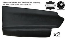BLACK STITCH 2X FRONT DOOR CARD TRIM LEATHER COVERS FITS HOLDEN STATESMAN VR VS