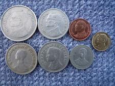 Thailand Lot / Konvolut 7 Münzen Baht - Satang