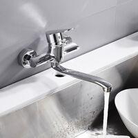 Évier de cuisine robinets bassin mitigeur mural pivotant bec de levier simple