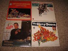 ACTION SOUNDTRACK LP's (LOT of 4) TRUE GRIT, DIRTY DOZEN, LAST RUN, DEVILS BRIG.