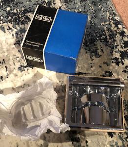 Vintage NIP Hall Mack Recessed Soap Holder Utility Bar chrome CORONADO 665 NOS