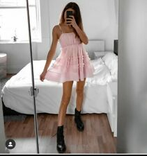 ZARA PINK TULLE DRESS WITH FRILLS BNWT SIZE LARGE