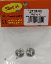 SLOT IT SIPA17MG 3/32 MAGNESIUM WHEELS SMALL HUBS NEW 1/32 SLOT CAR PARTS