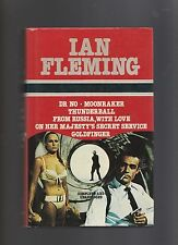 Ian fleming/James Bond 6 in 1 H/C D/J - Dr No/Moonraker/Thunderball/From Russia