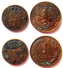 Niederlande, Wilhelm II., Lot v. 2 Münzen ab 1867