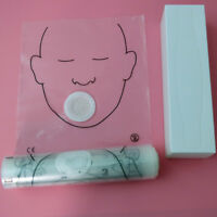36pcs/roll DISPOSABLE IMPRINTED TRANSPARENT CPR MASK CPR FACE Mask