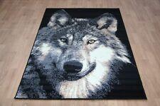 Large Wolf Animal Print Rug 150cm x 100cm Modern Wolf Rug
