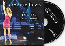 CELINE DION - Featured Live Recordings PROMO CD SINGLE 5TR US Cardsleeve 2009