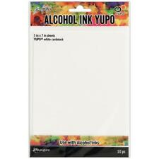 """Ranger Tim Holtz Alcohol Ink YUPO PAPER- 10 Sheets (5""""x7"""") WHITE OR TRANSLUCENT"""