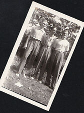 Vintage Antique Photograph Three Sexy Young Men All Dressed Up in Garden
