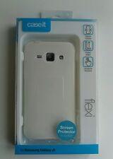 NEW IN BOX - Case It/ Caseit Flexi Case for Samsung Galaxy J1 (white)