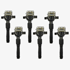 Ignition Coil + Spark Plug Connector BMW E46 E39 3 5 X5 Z Series Premium (6pcs)