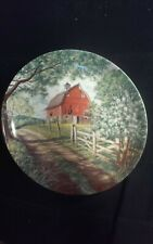Knowles collector plate Weathered Barn By Bart Jener's
