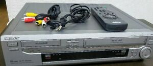SONY WV-H6 Hi8 VHS Video Cassette Deck Silver Good Working Electronics