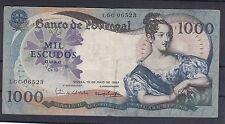 C.R 0299 BILLETE PORTUGAL 1000 ESCUDOS 1967 CIRCULADO