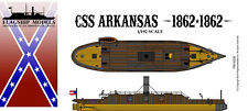 FLAGSHIP MODELS 1/192 Scale CSS Arkansas; Ironclad Ram (10.5 inches long)