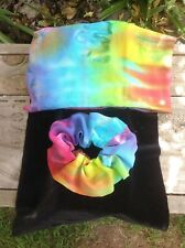 Tie Dye Scrunchie   Rainbow Scrunchie   Hand made in Australia!