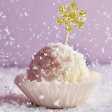 Snowflake Cake Topper Girl Christmas Birthday Cupcake Toppers Baby Shower GB