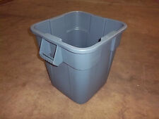 Rubbermaid - FG352600 Gray - Waste Container Square 28 Gal Gray