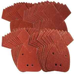 20 x Mouse Sanding Sheets Fits Black & Decker Palm Sander 40 Grit - With Tips