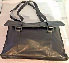 Large Tignanallo Black Leather Purse Lap Top Bag. Brief-case bag.