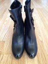 Kennel & Schmenger Black Leather Platform Heeled Ankle Boots Size EU 37.5 UK 4.5