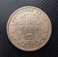 GERMANY / SILVER 1 MARK / 1904 E