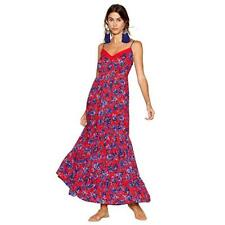 Debenhams The Collection Red Floral Print Tiered V-Neck Maxi Dress Size 22 Bnwt